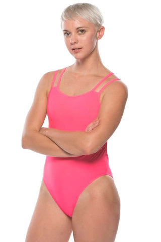Ash 2 Fixed-Back Onesie - Hot Pink