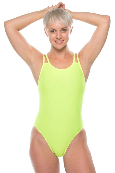 Ash 2 Fixed-Back Onesie - Highlighter Yellow