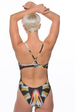 Printed Heath Fixed-Back Onesie - Glare