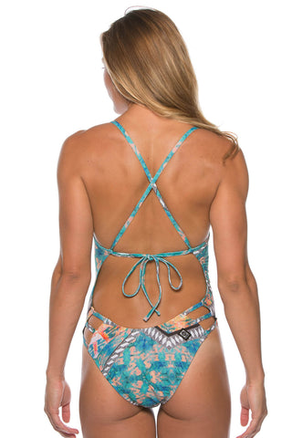 Printed Nico Tie-Back Onesie - Backup