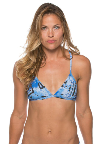 Printed Triangle Top - Celeste