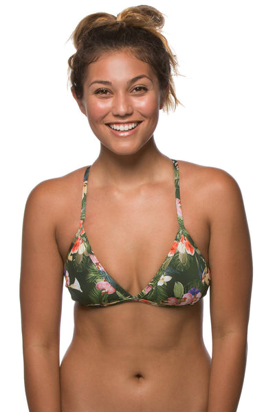 Printed Triangle Top - Samoa Green