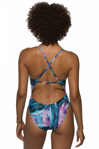 Printed Brandon Fixed-Back Onesie - Whirlpool