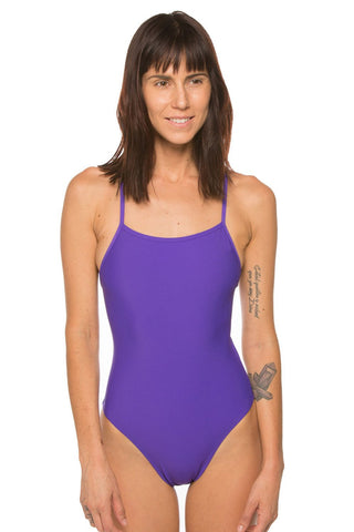 Gavin Tie-Back Onesie - Purple