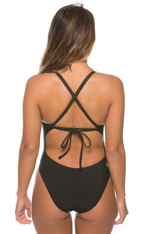 Brooks Tie-Back Onesie - Black