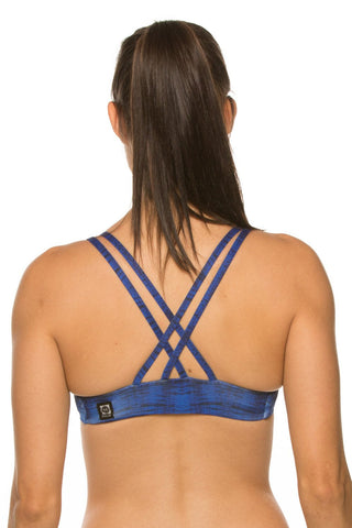 Printed Fendrick Fixed-Back Top - Rio Blue
