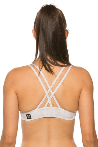 Printed Fendrick Fixed-Back Top - Rio Silver