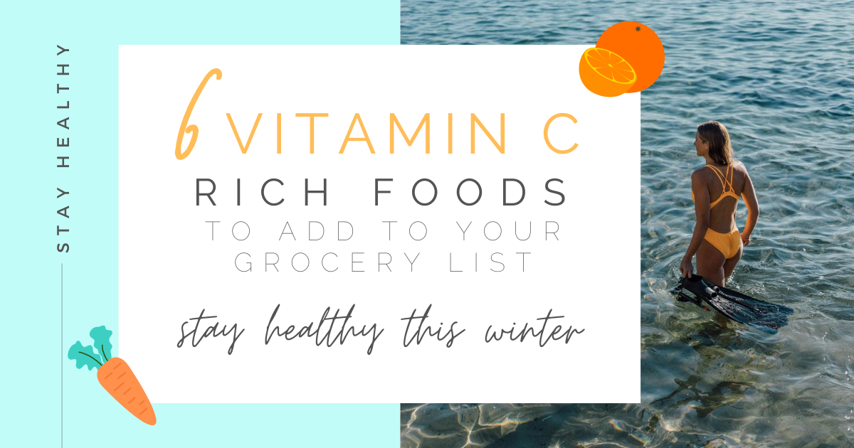 JOLYN Australia Athletic Swimwear blog - Vitamin C rich foods to stay healthy in winter