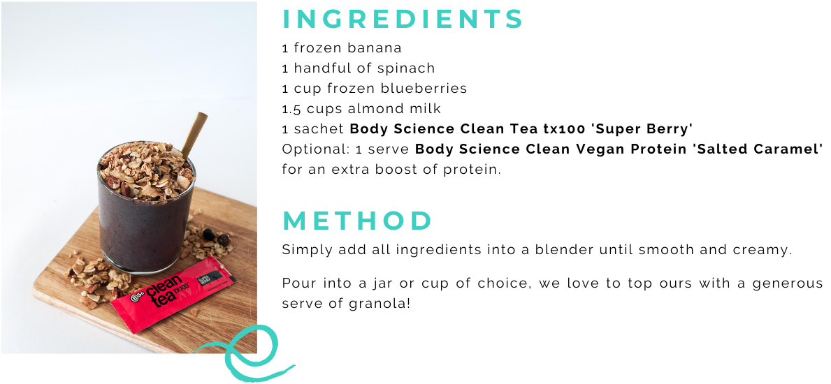 JOLYN Australia sports swimwear blog recipes - super berry smoothie