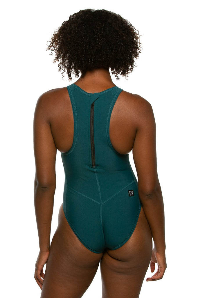Anique Water Polo Suit - Peacock