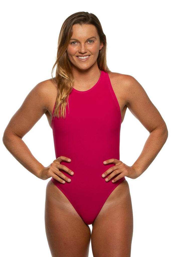 Anique Water Polo Suit - Dragon Fruit