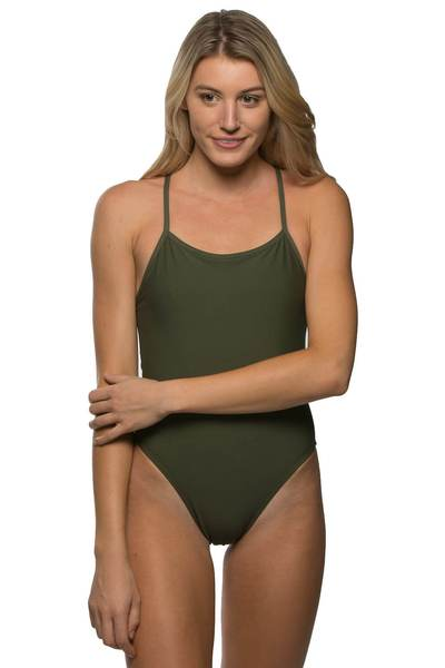 Brandon Fixed-Back Onesie - Army