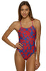 Printed Brandon Fixed-Back Onesie - Barney