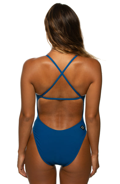 Brandon Fixed-Back Onesie - Deep Blue Sea