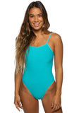 Brandon Fixed-Back Onesie - Hawaii Blue