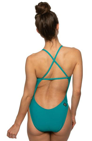 Brandon Fixed-Back Onesie - Ocean