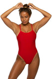 Brandon Fixed-Back Onesie - Red