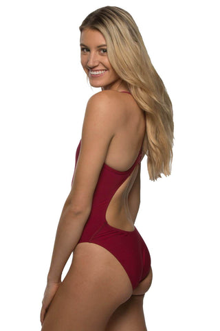 Chevy Fixed Back Onesie - Cranberry