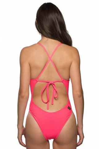 Dayno Tie-Back Onesie - Hot Pink