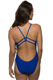 Drew Fixed-Back Onesie - Blueberry