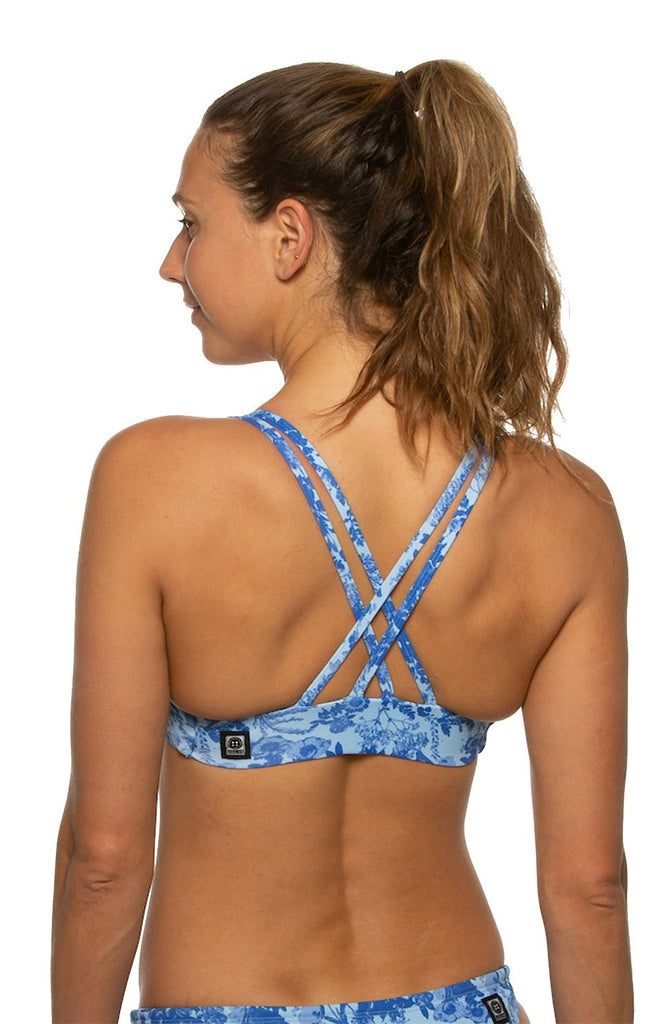 Printed Fendrick Fixed-Back Top - Everflower