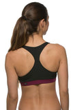 Forest Sports Bra - Black/Cabernet