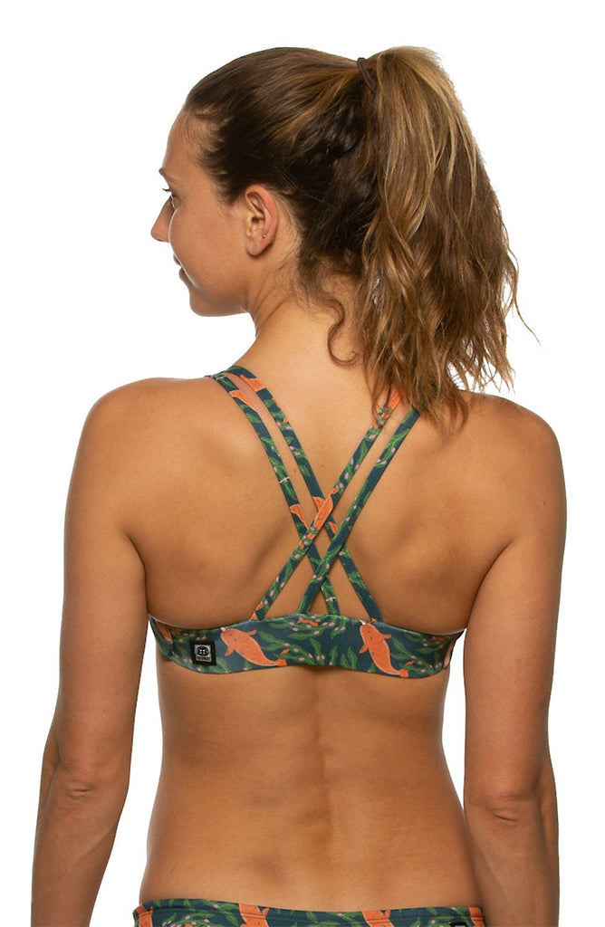Printed Fendrick Fixed-Back Top - Gnarwhal