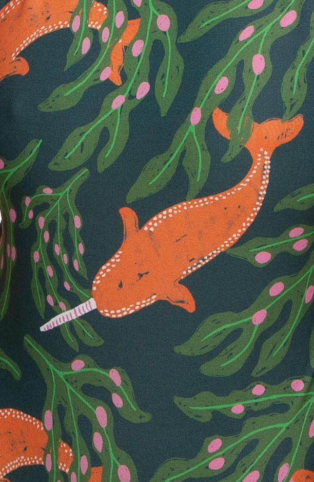 Printed Tomcat Top - Gnarwhal