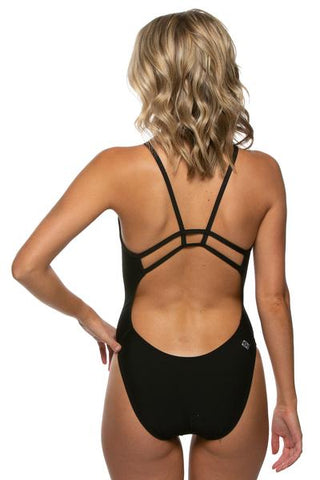 Hayden Fixed-Back Onesie - Black