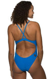 Heath Fixed-Back Onesie - Water Blue
