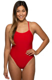 Jackson Tie-Back Onesie - Red