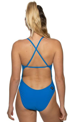 Brandon Fixed-Back Onesie - Water Blue
