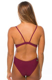 Kevin Fixed Back Onesie - Cabernet