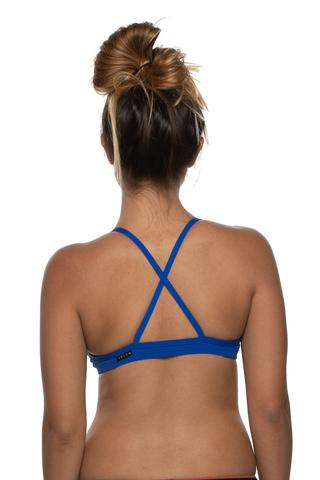 Merlin Fixed-Back Top - Blueberry
