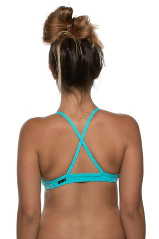 Merlin Fixed Back Top - Hawaii Blue