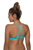 Merlin Fixed-Back Top - Hawaii Blue