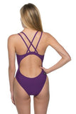 Murray Fixed-Back Onesie - Grape