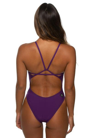 Perry Fixed-Back Onesie - Grape