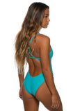 Perry Fixed-Back Onesie - Hawaii Blue