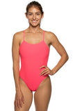 Perry Fixed-Back Onesie - Hot Pink