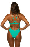 Perry Fixed-Back Onesie - Seafoam
