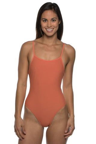 Perry Fixed-Back Onesie - Terracotta