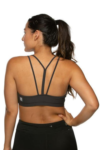 Riley Sports Bra - Graphite
