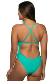 Scotty Fixed-Back Onesie - Seafoam