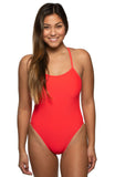 Scotty Fixed-Back Onesie - Strawberry
