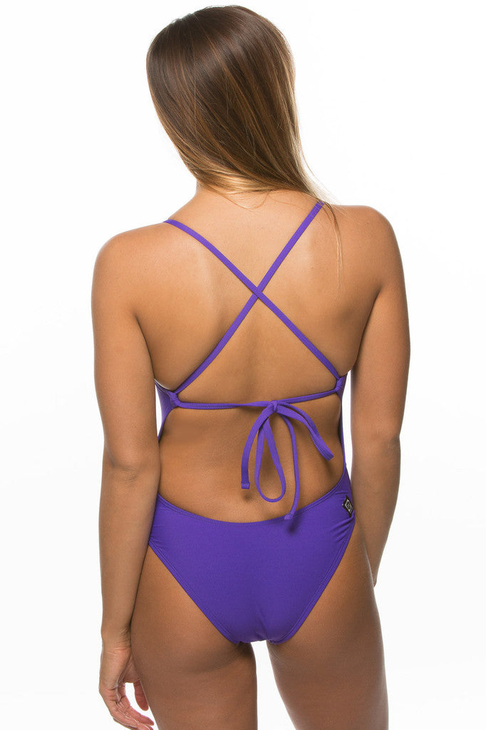 Dayno Tie-Back Onesie - Purple