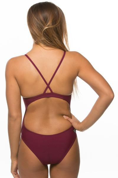Heath Fixed Back Onesie - Cabernet