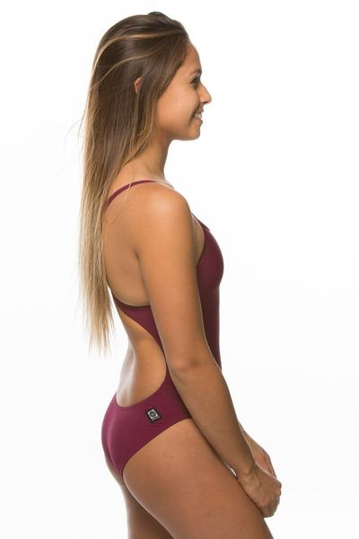Heath Fixed-Back Onesie - Cabernet