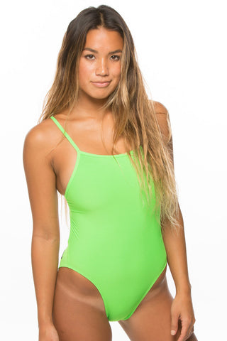 Dayno 2 Tie-Back Onesie - Lime