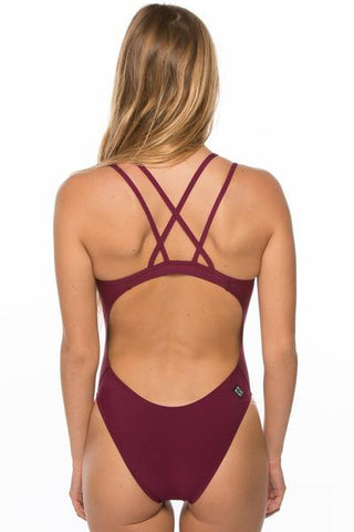 Murray Fixed Back Onesie - Cabernet